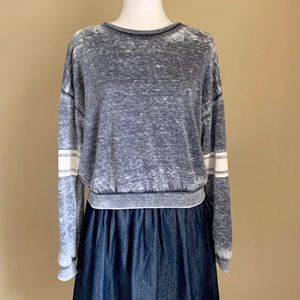 Forever 21 Grey Graphic Sweatshirt, Size Small